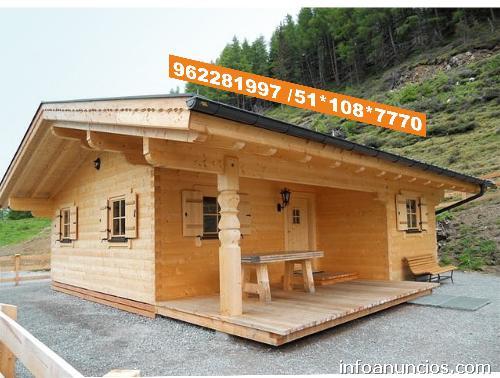 Fotos de casas madera prefabricados campo playa lima peru - Casas de campo madera ...